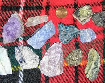 Raw minerals set 13 different stones