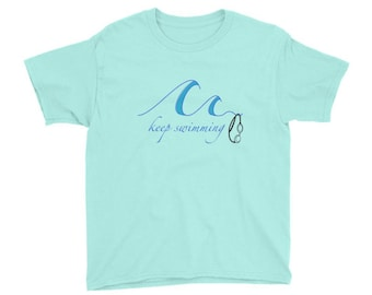 Keep Swimming Kids T-Shirt - gifts for swimmers, swimming tee