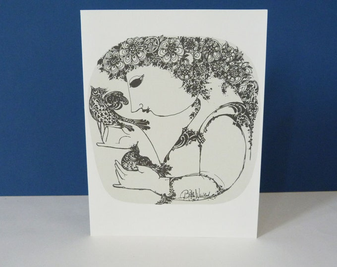 Bjorn Wiinblad Birds  Greetings card