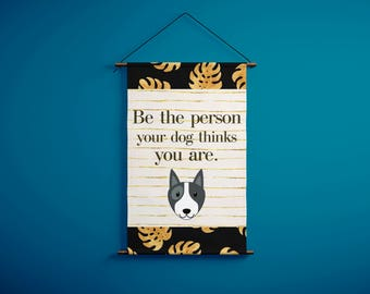 Printable wall art black & gold inspirational quote for pet lovers, Dog lover gift, Dog quote art, Home decor, Digital print design