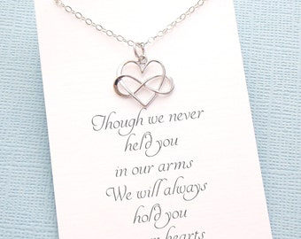 Miscarriage Necklace   Infinity Necklace, Bereavement Gift, Condolence Gift, Pregnancy Loss, Infant Loss, Miscarry Gift, Miscarriage Gift  4