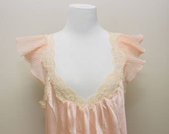 Gorgeous Vintage Christian Dior Pink Satin Night Gown