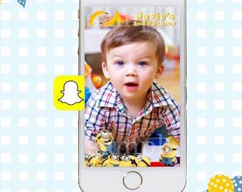 Snapchat GeoFilters, Minion Birthday Snapchat Filters, Party Snapchat Filter, Minions Party, Minions Birthday Party, Minions Birthday Filter