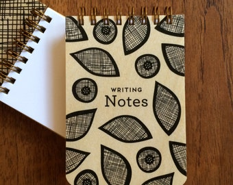 Writing Notes Wood Jotter - Real Wood Notepad - To Do List - Mini Notebook - Pocket Notepad - J1928