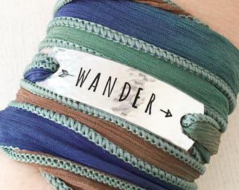 Wander Jewelry, Traveler Gift, Travel Jewelry, Boho Jewelry, Boho Wrap Bracelet, Globetrotter Gift, Gift For Traveller, Wanderlust Gift