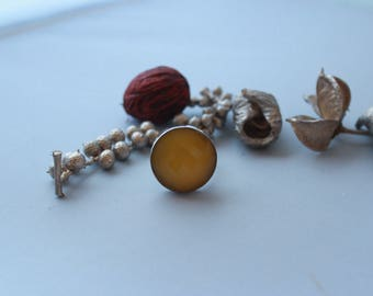 Glam Yellow Onyx  (One size for all) Ring set in Sterling silver