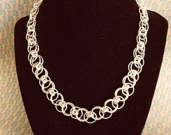 Sterling parallel necklace