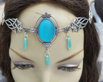 Emerald Circlet of the Forest Defender celtic druid elven bridal cosplay wedding