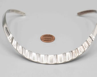 Vintage Taxco Silver Collar Necklace 57 Grams of Sterling Silver SKU-TB-19