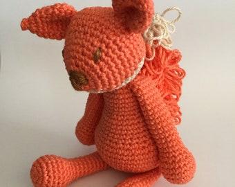 Crochet squirrel, Amigurumi squirrel, Crochet animal, Crochet toy, Squirrel, Red Squirrel, Stuffed toy, Stuffed animal,