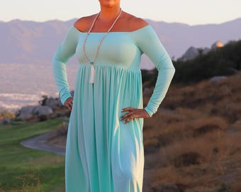 20% OFF! California off the shoulder/maxi dress/plus size dress/ sleeves length/variable dress length/plus size clothing/strapless/
