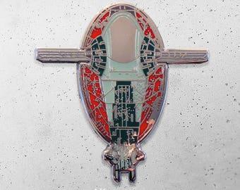 Boba Fett / Slave 1 / Star Wars / Hat Pin / Lapel Pin / Hard Enamel /  Pin / Lapel Geek Pin