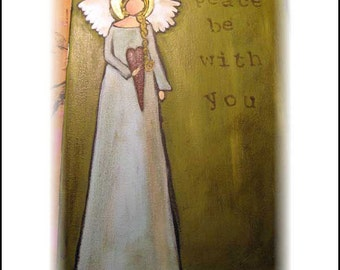 Peace be with You :Original Acrylic on Canvas Painting
