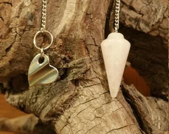 Quartz Pendulum with Silver Heart