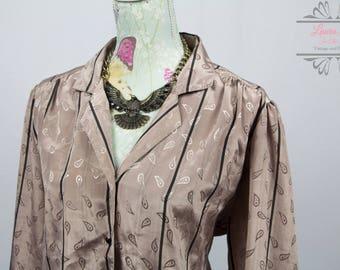 Vintage Golden Beige Bomber Jacket / Top Size M/L