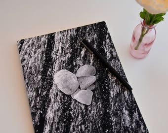 Unique Bullet Journal Graph Notebook with Grid Line Pages, Rumi Quote, Heart Journaling Gift