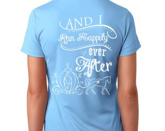 And She Ran Happily Ever After... Running Shirt