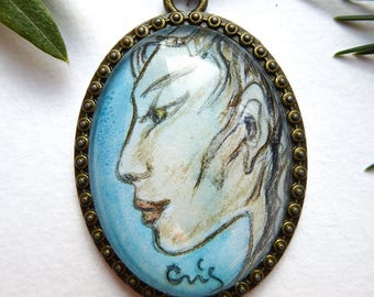 Middle length necklace Cerulean Faun