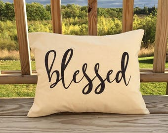 Blessed Throw Pillow   Decorative Pillow