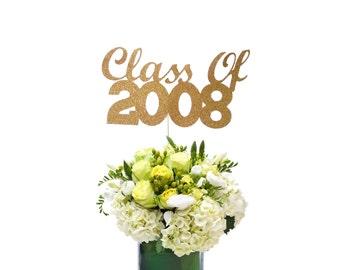 Class of 2008 Centerpiece Stick, 10th Year Class Reunion, 10 Year Reunion, 10 Year Reunion, High School Class Reunion Party, 2008 Reunion