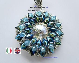 Shuriken3D, ciondolo realizzato con diamonduo.italiano-inglese