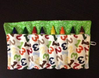 Crayon Roll Numbers Holds Large Crayons