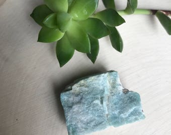 Raw Amazonite Crystal - Rough Stone - Altar Stone - Rocks and Minerals - Crystal Specimen - Colorado Amazonite Hippie Decor