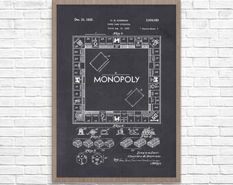 Monopoly patent art etsy malvernweather Choice Image