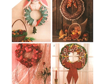 Simplicity Sewing Pattern 6615 Seasonal Wreaths  One Size  Uncut