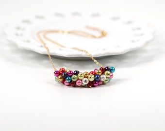 Balloons Multi Color Pearl Necklace Carnival Collection