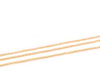 Chain brass 2.5 x 1.5 mm