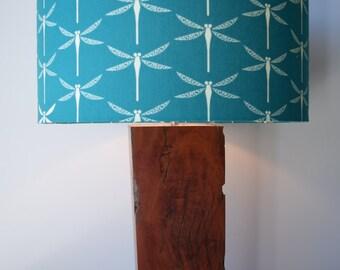 Ironbark wood lamp base #43 handmade from reclaimed timber for table, desk or bedside