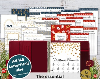Christmas Planner Printable | Holiday Planner 2017 | Christmas Printable | Christmas organizer | Party organizer | A4 A5 | Letter Half