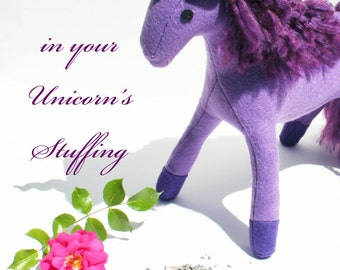Lavender Flowers in Your Unicorn's Stuffing, Add-On for Build-A-Unicorn, Build-A-Pegacorn, The Roaming Peddlers, Scented Stuffed Toy