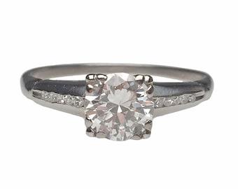 DIAMOND 1940'S ENGAGEMENT RING | Platinum