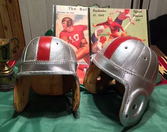 1940 Ohio State leather football helmet full size adult