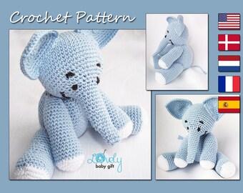 Elephant Crochet Pattern, Crochet Elephant Toy, Amigurumi Elephant, Stuffed Elephant Crochet Pattern, Pdf Crochet Pattern, CP-104