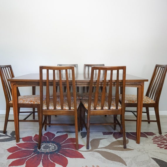 Large Mid Century Modern Dining Room Set Walnut Mid Century - Large mid century modern dining table