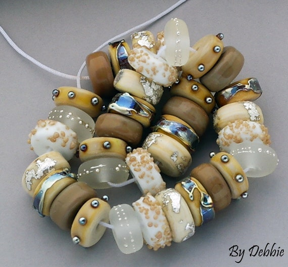 Glass Beads Lampwork Beads Gifts For Her Handmade Beads For Jewelry Supplies Beading Supplies Craft Supplies Beach Jewelry Debbie Sanders