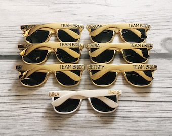 Personalized Sunglasses, Custom Sunglasses, Bachelorette Sunglasses, Wedding Sunglasses, Gold Sunglasses, Bachelorette Gift, Wayfarer