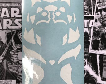 Ahsoka Tano Star Wars Rebels Inspired Car, Laptop, or Decor Vinyl Decal