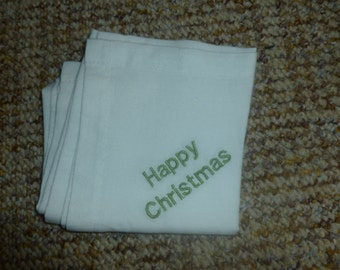 Personalised Handkerchief - made to order - makes a great gift