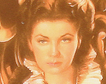 """Collectible Plate  """"Waiting for Rhett"""" from Reknowned Movie """"Gone With the Wind"""" featuring image of Vivien Leigh  portraying Scarlett O'Hara"""