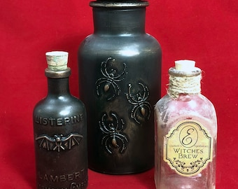 Apothecary bottles group A