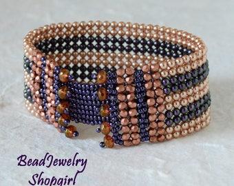 Diamond Weave Swarovski Pearl Bracelet