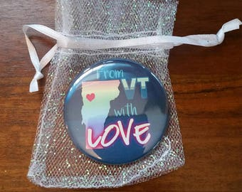 From VT with Love Pocket Mirror with Glitter Organza Bag