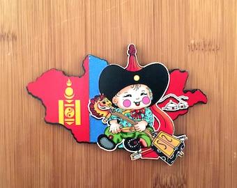 Cute Mongolian magnet