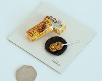Miniature Waffles, Eggos, Box, Diorama, Stranger Things