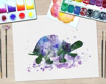 Tortoise Art print, Tortoise Wall Art, Tortoise Watercolour, Tortoise Wall decor, Tortoise Watercolor, Nursery Art Print, Nursery print