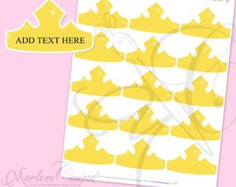 Princess Crown Favor Tags, Sleeping Beauty crown, Inspired, JPEG File, Printable- - INSTANT DOWNLOAD